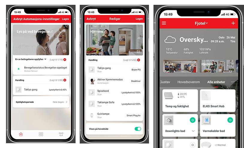 ELKO Smart app automasjoner