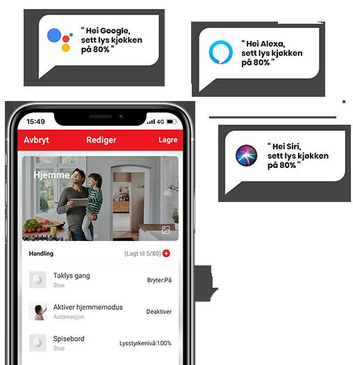 Stemninger og automasjoner, app med snakkebobler